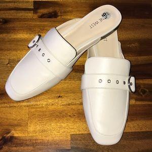 NINE WEST Mules/Slides~sz 9 1/2~creamy off white